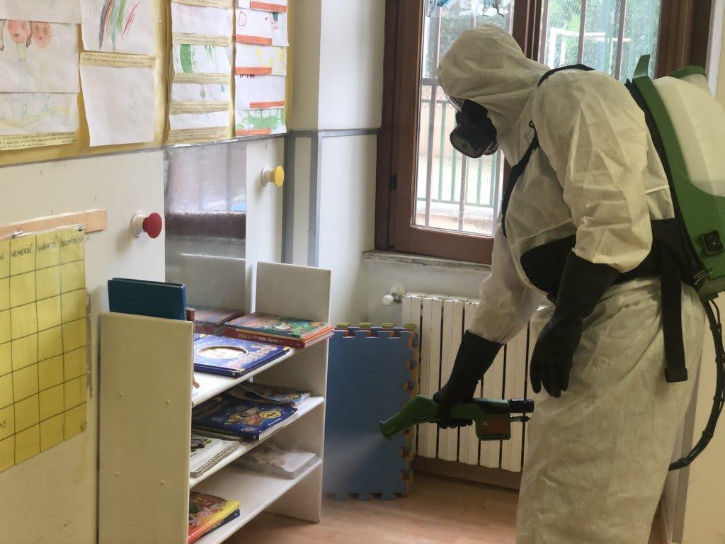 sanificazione degli ambienti di lavoro